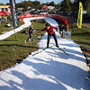 Record-Eagle/Keith King<br /> Gussie Peterson, Traverse City, skis against the clock Saturday, October 22, 2011 on a course at Brick Wheels during the second annual Nordic Fest. The event includes a Vasa Ski Club membership drive and party as well as a cross-country  and telemark ski swap with the ski race being the U.S.A. Nordic, and Michigan Cup, cross country ski 2011-2012 racing season opener.