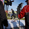 Record-Eagle/Keith King<br /> Steve Smigiel, of Ada, skis against the clock Saturday, October 22, 2011 on a course at Brick Wheels during the second annual Nordic Fest. The event includes a Vasa Ski Club membership drive and party as well as a cross-country  and telemark ski swap with the ski race being the U.S.A. Nordic, and Michigan Cup, cross country ski 2011-2012 racing season opener.