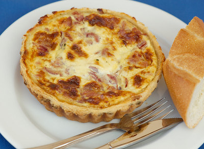 High quality photographs of Quiche from Normandie Bakery made by Chef Josette LeBlond at her bakery in Los Angeles. Normandie Bakery information 5277 W. Jefferson Ave., Los Angeles, CA 90016 (323) 939-5528 Photographs Copyright 2011 Mark Bowers All Rights Reserved