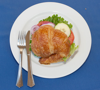 High quality photographs of Croissant Sandwich from Normandie Bakery made by Chef Josette LeBlond at her bakery in Los Angeles. Normandie Bakery information 5277 W. Jefferson Ave., Los Angeles, CA 90016 (323) 939-5528 Photographs Copyright 2011 Mark Bowers All Rights Reserved