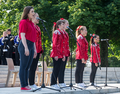 "These young lady vocalists perform as ""We Are America"""