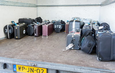Carried-on instruments loaded in the trailer and ready to roll
