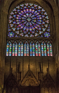 "South transept ""Rose"" -- over 10 meters in diameter"
