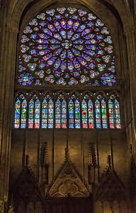 """South transept """"Rose"""" -- over 10 meters in diameter"""
