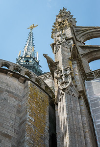 More gargoyles, and one of the first good looks at the steeple