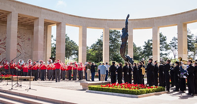 """""""Amazing Grace"""" and a salute at the wreaths ends the ceremony"""