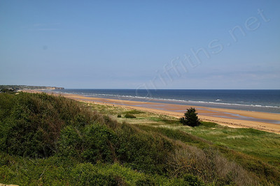 View from one of the German positions on Omaha beach
