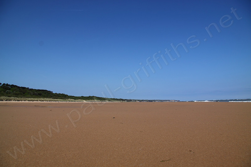 This shows the area that had to be covered on D-Day by the troops landing on the beach with no cover or protection