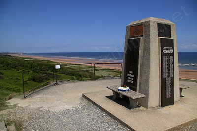 Memorial on the top of one of the German gunnery positions