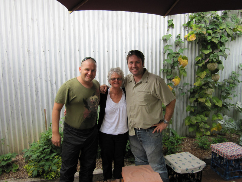 Our meet up with Shirley Mason in Armidale  for a great breakfast at The Fishbowl Cafe in Jessie Street.