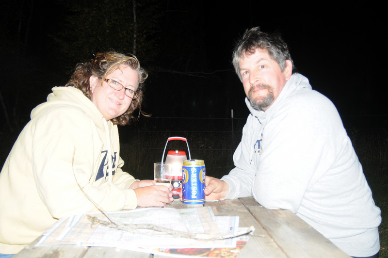 After dinner drinks in the Black HIlls of South Dakota.