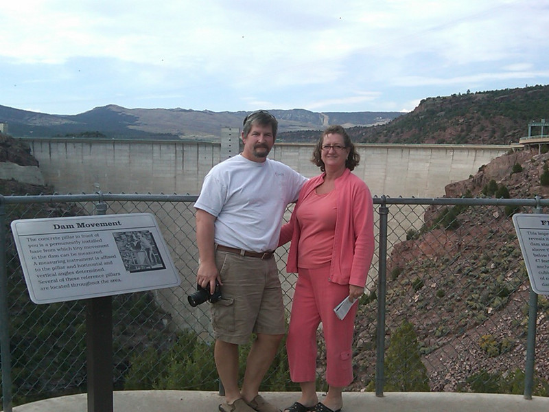 Viewpoint by Flaming Gorge Dam.