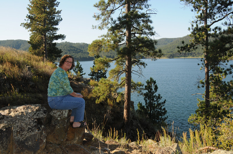 At the Pactola Reservoir in the Black Hills of South Dakota.