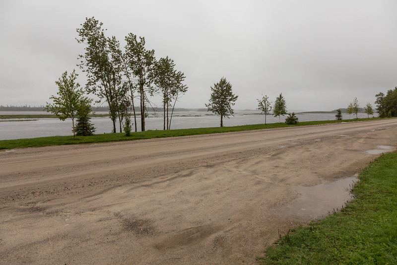 Not a great looking morning for Northwest Run for Diabetes in Moosonee.