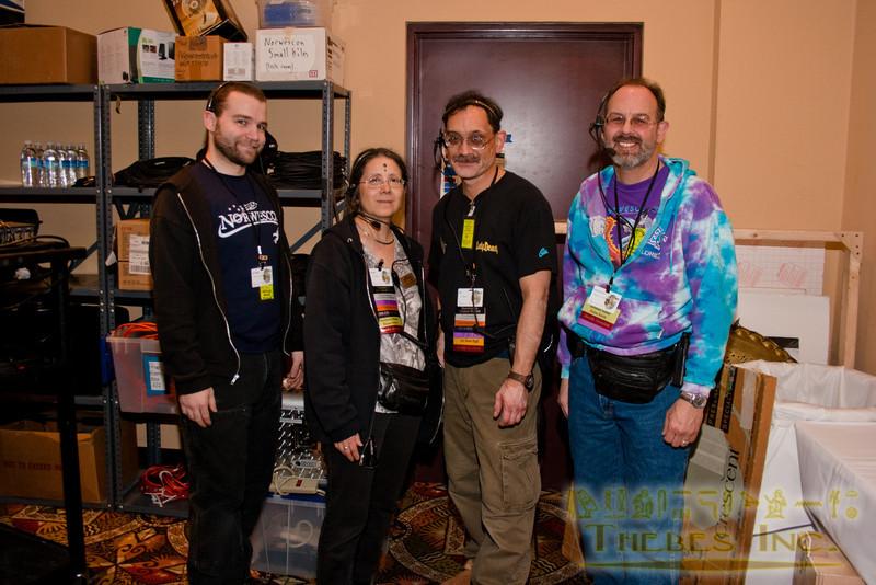 Several of the con Tech crew