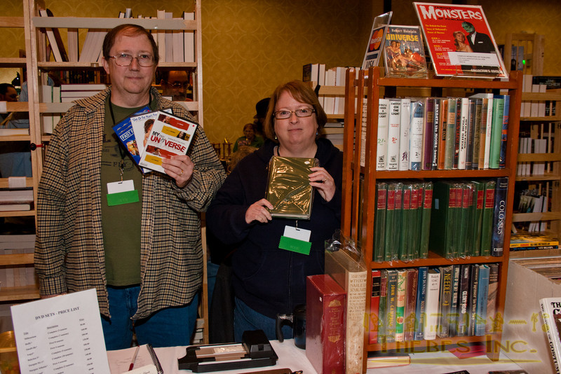 DVD and vintage books booth