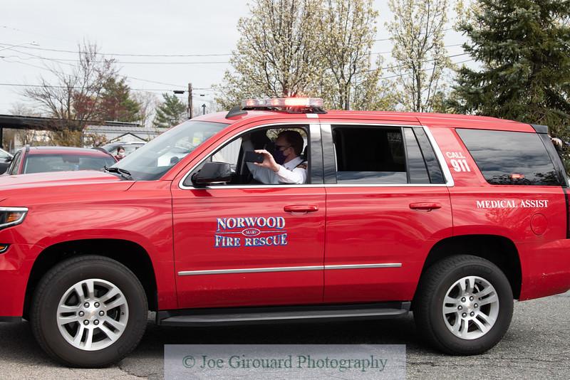 Norwood Hospital First Responder Parade