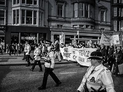 'Not in my Name' Protest, Edinburgh