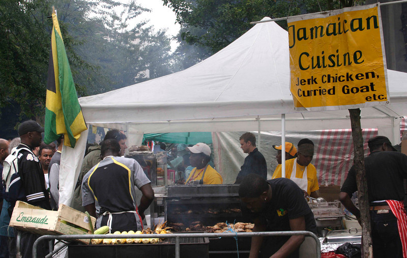 Jamaican Cuisine stall at the Notting Hill Carnival 2008