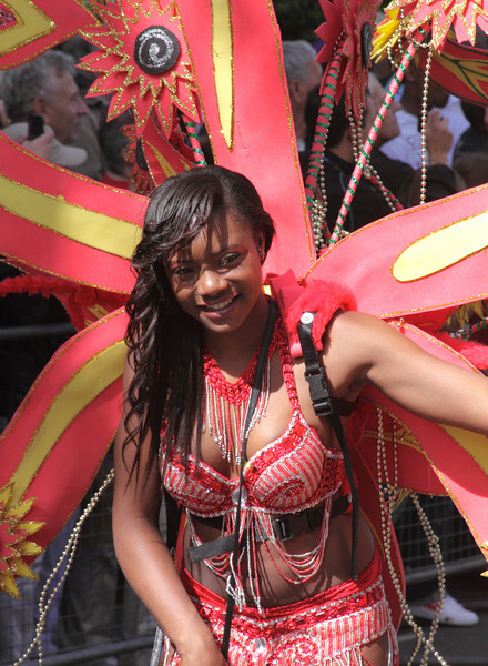 Girl parading at Notting Hill Carnival 2010