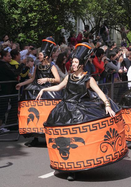 Women parading at Notting Hill Carnival London 2010