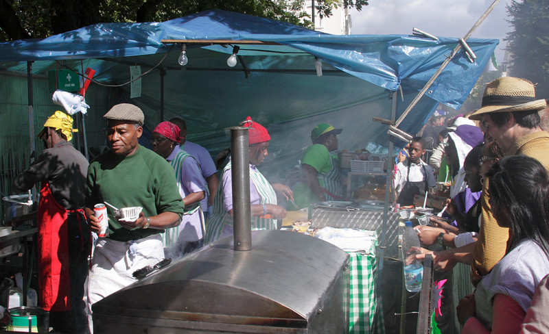 Food stall at Notting Hill Carnival 2010