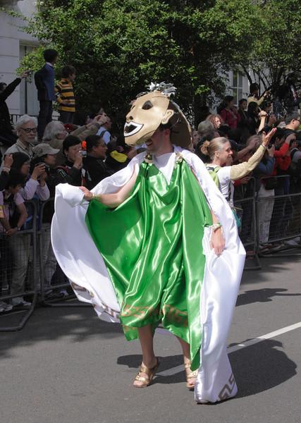 Man parading at Notting Hill Carnival London 2010