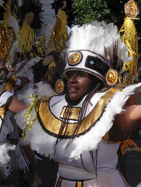 Girl parading at Notting Hill Carnival 2010