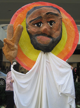 Nov. 14, 2005 - WOC Showered the Bishops with Roses and Puppets!