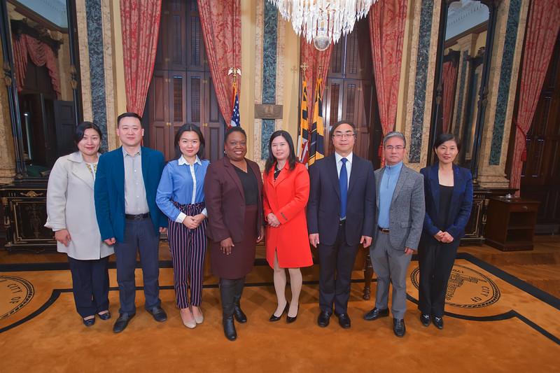 November 07, 2019 - Chinese Delegation Visit to City Hall