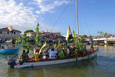 November 19th, Garifuna Settlement Day re-enactment in Dangriga, Stann Creek, Belize.