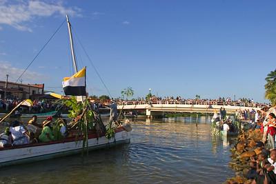 November 19th, Garifuna Settlement Day re-enactment in Dangriga, Stann Creek, Belize.