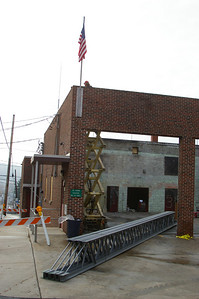 Wednesday, November, 21st, 2007:  Roof removal is being completed as inspection and surface preparation is completed to restore the Schuylkill Hose Co # 2 building to 100%