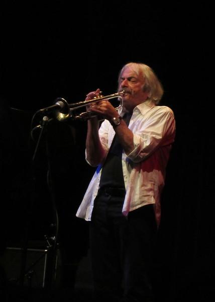 Harmen Fraanje met de Italiaanse trompettist Enrico Rava