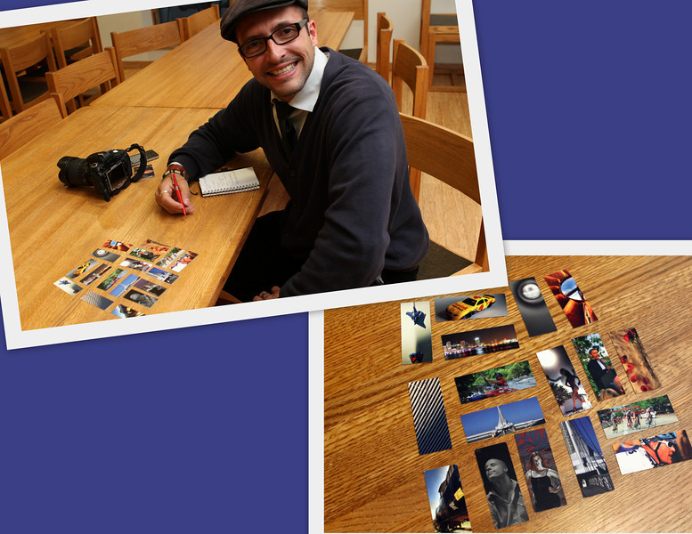 Giovanny Lopez, Photojournalist/Photographer, flickr.com/photos/giolopezlozano/sets displays some of his many talents in this colorful collage of Moo business cards.