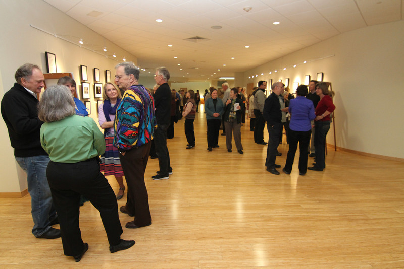 Wide angle view of the gallery space. It was a wonderful evening of exciting conversations.