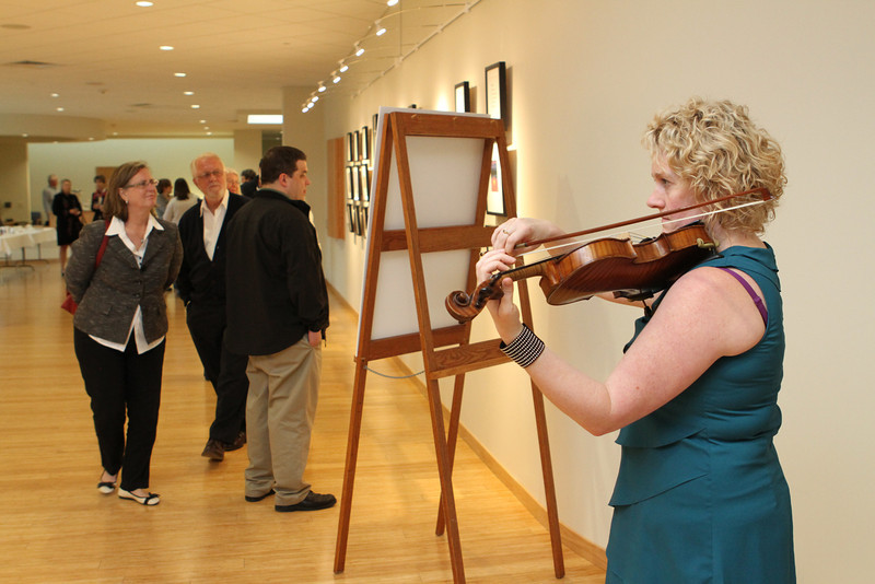 Lovely music filled the NOW Art Exhibit Gallery.