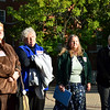 Sisters listen during at a Nuns on the Bus Ohio rally.