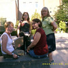 Workshop participants with LuEllen in the sunny, tranquil space of the Healing Gardens