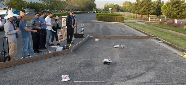 The RC car competition gets serious (sort of).