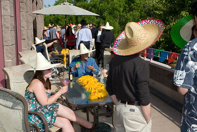 Sombreros were well distributed and used.