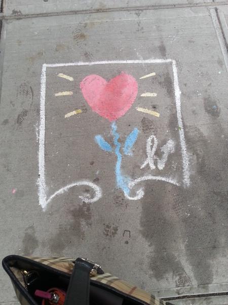 my wonderful city. sidewalk art.