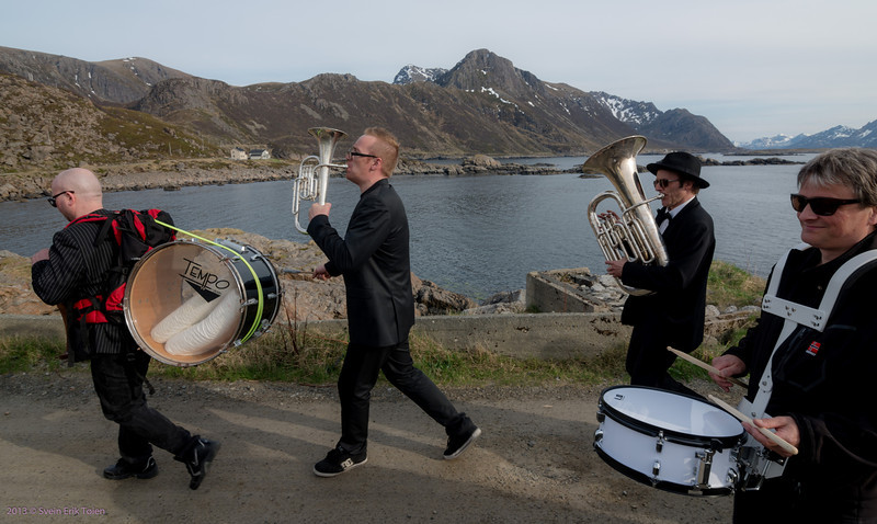 Part of the band, musicians from DoggerBank, Nyksund Brygge and DiRR