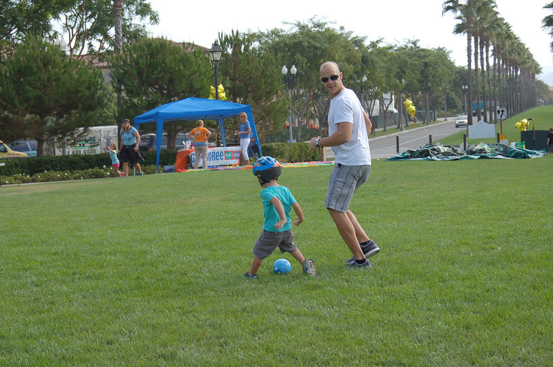 Kids and parents spend some quailty time with our NEGU soccer balls.