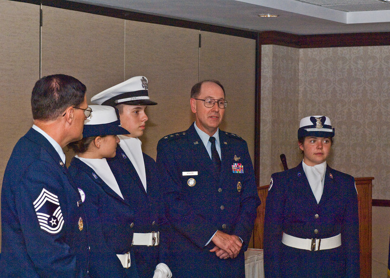 General Kehler and Color Guard