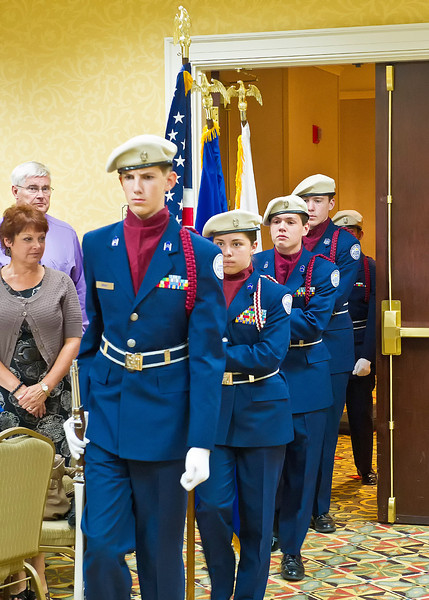 Junior ROTC Color Guard (Colonel John Gaughan, USAF Retired, in background)