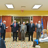 Installation of New Officers: MT Smith, giving oath; Cres Baca, President; Mort Friedlander, 1st Vice President; Gene Armstrong, Secretary; Fred Wyant, Treasurer.