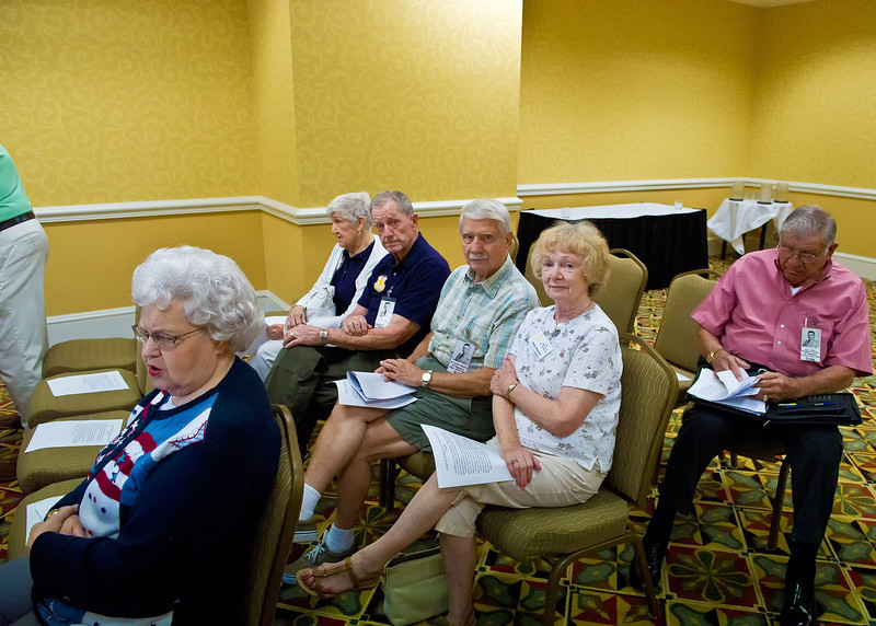 Business Meeting:  Betty Wyant; Dorothy & Donn Sheeders; Ed & Ruby Doucette; Cres Baca
