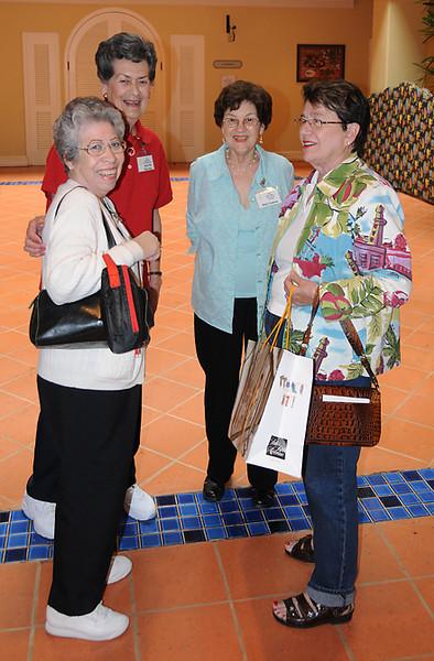 Edna Scanlan, Anna Mae Harrelson, Betty Cochran, and Lorna Rollag