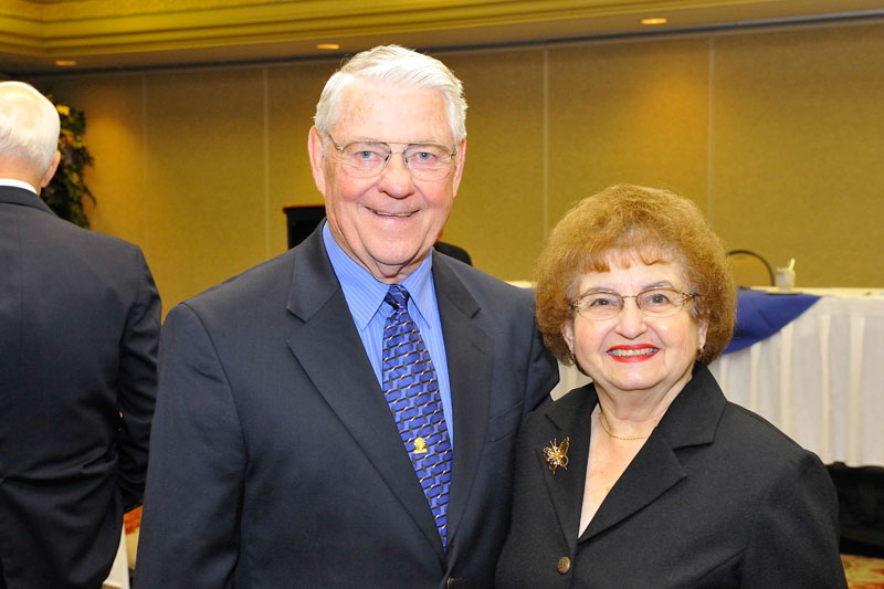 Chief Master Sergeant of the Air Force Bob Gaylor and Mrs Gaylor